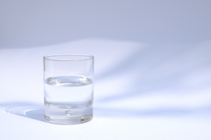 glass of very clean water